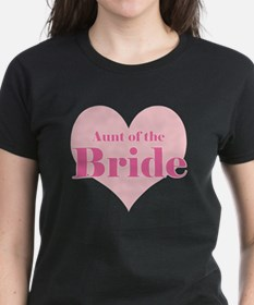 Aunt of the Bride pink heart Tee