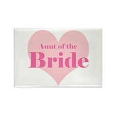 Aunt of the Bride pink heart Rectangle Magnet