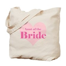 Aunt of the Bride pink heart Tote Bag