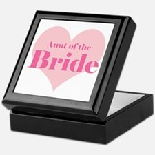 Aunt of the Bride pink heart Keepsake Box