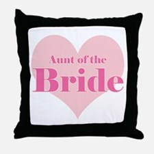 Aunt of the Bride pink heart  Throw Pillow