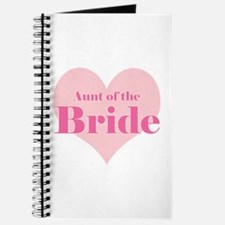 Aunt of the Bride pink heart Journal