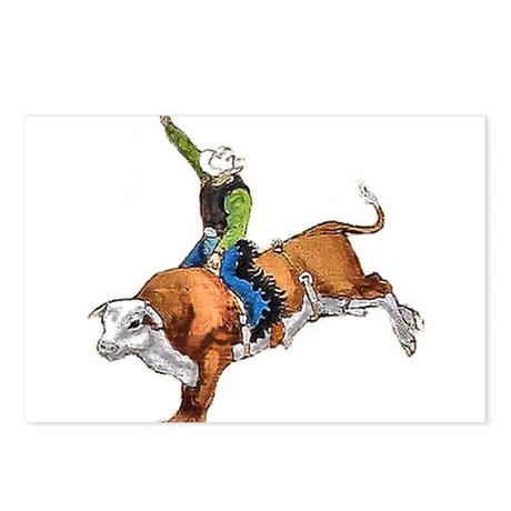 Bull Rider Postcards (Package of 8)