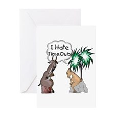 Goat TimeOut Greeting Card