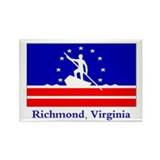 Richmond VA Flag Rectangle Magnet