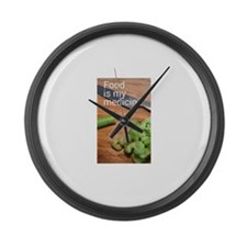 Food is my medicine Large Wall Clock