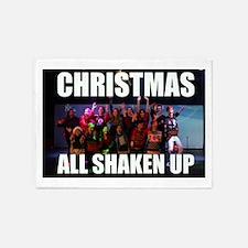 CHRISTMAS ALL SHAKEN UP CAST PHOTO 5'x7'Area Rug
