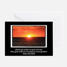 Go Even Further Greeting Card