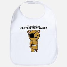 Captain Teddysword Bib