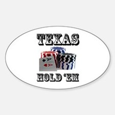 Texas Hold 'em Oval Decal