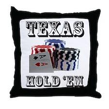 Texas Hold 'em Throw Pillow