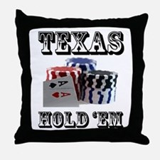 Texas Hold 'em Throw Pillow