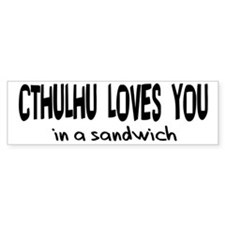Cthulhu Loves You Bumper Bumper Sticker