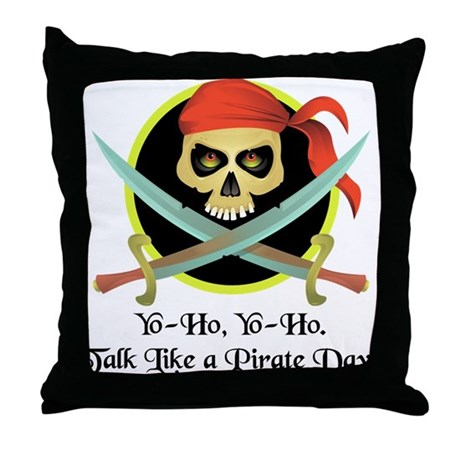 Pirate Day Throw Pillow