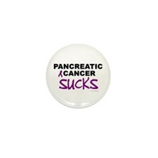 Pancreatic Cancer Sucks 1 Mini Button (10 pack)
