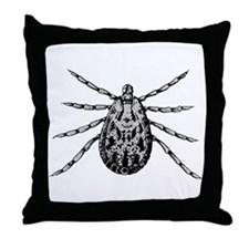 LymieTees Tick Designer Throw Pillow