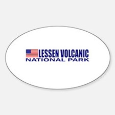 Lessen Volcanic National Park Oval Decal