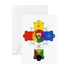 Rose Cross Greeting Card