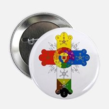 Rose Cross Button