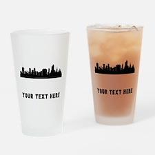 Tulsa Cityscape Skyline (Custom) Drinking Glass