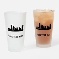 Toledo Cityscape Skyline (Custom) Drinking Glass