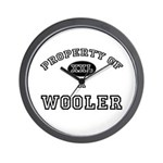 Property of a Wooler Wall Clock