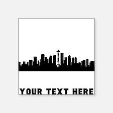 Seattle Cityscape Skyline (Custom) Sticker