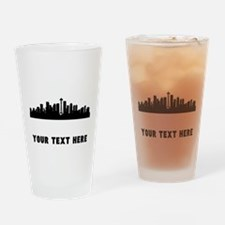 Seattle Cityscape Skyline (Custom) Drinking Glass
