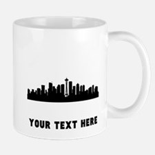 Seattle Cityscape Skyline (Custom) Mugs