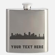 Sacramento Cityscape Skyline (Custom) Flask
