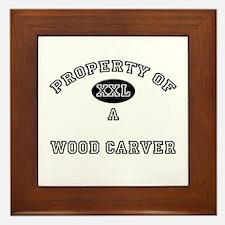 Property of a Wood Carver Framed Tile