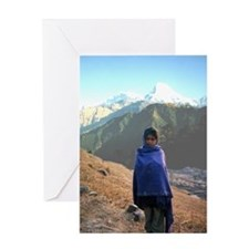 Nepalese Girl Greeting Card
