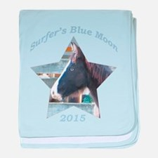 Surfer's Blue Moon, Chincoteague Pony baby blanket