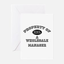 Property of a Wholesale Manager Greeting Cards (Pk