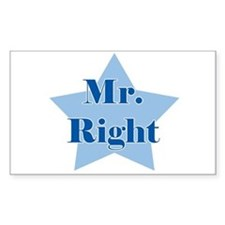 Mr. Right Rectangle Decal