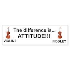 Violin Fiddle Attitude! Bumper Bumper Stickers