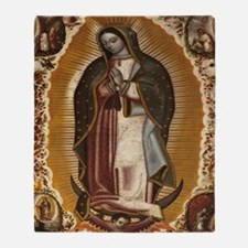 Cute A lady of guadalupe Throw Blanket