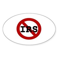 No IRS Oval Decal