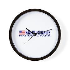 Hawaii Volcanoes National Par Wall Clock