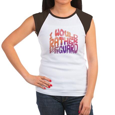 I'd Rather Be At Guard Women's Cap Sleeve T-Shirt