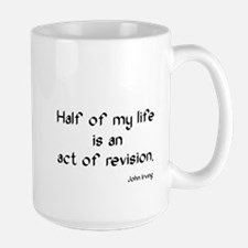 John Irving Quote Large Mug