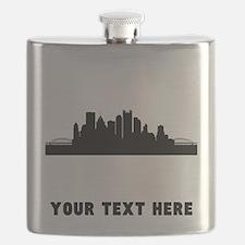 Pittsburgh Cityscape Skyline (Custom) Flask
