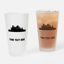 Pittsburgh Cityscape Skyline (Custom) Drinking Gla