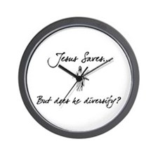 Jesus Saves...But... Wall Clock
