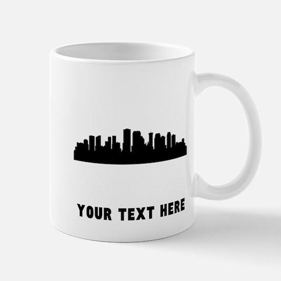 New Orleans Cityscape Skyline (Custom) Mugs