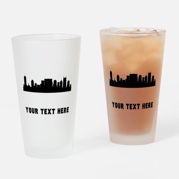 Nashville Cityscape Skyline (Custom) Drinking Glas