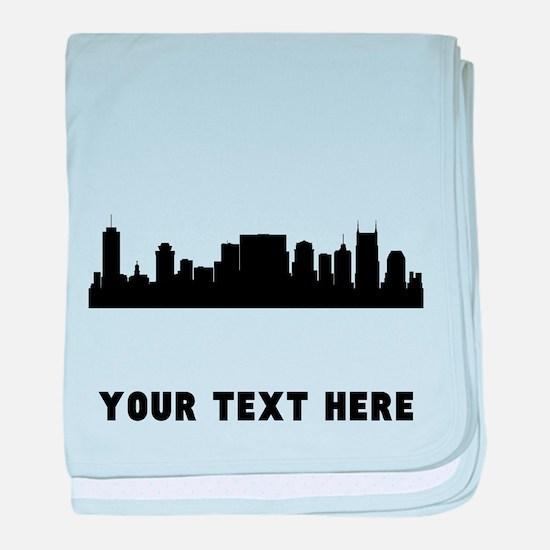Nashville Cityscape Skyline (Custom) baby blanket