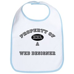 Property of a Web Designer Bib