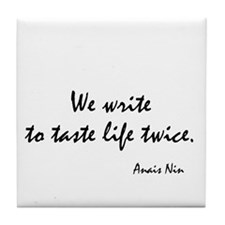 Anais Nin Quote Tile Coaster