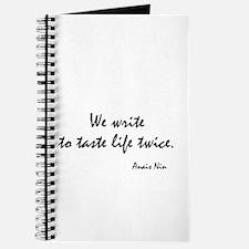 Anais Nin Quote Journal